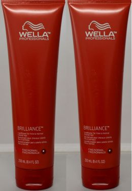 Wella Brilliance Conditioner for Fine to Normal Colored Hair 8.4oz (2 pack)