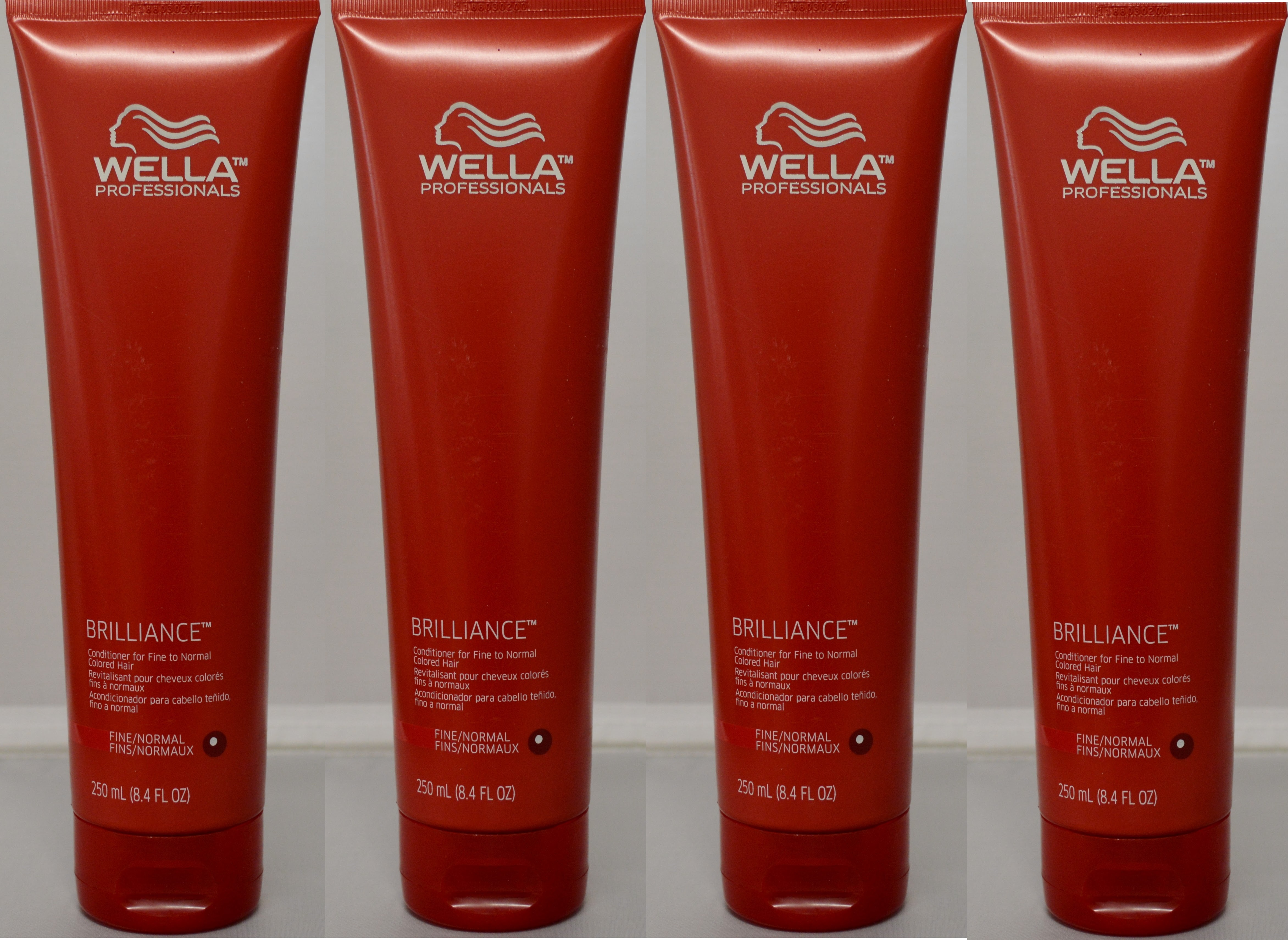 Wella Brilliance Conditioner for Fine to Normal Colored Hair 8.4oz (4 pack)
