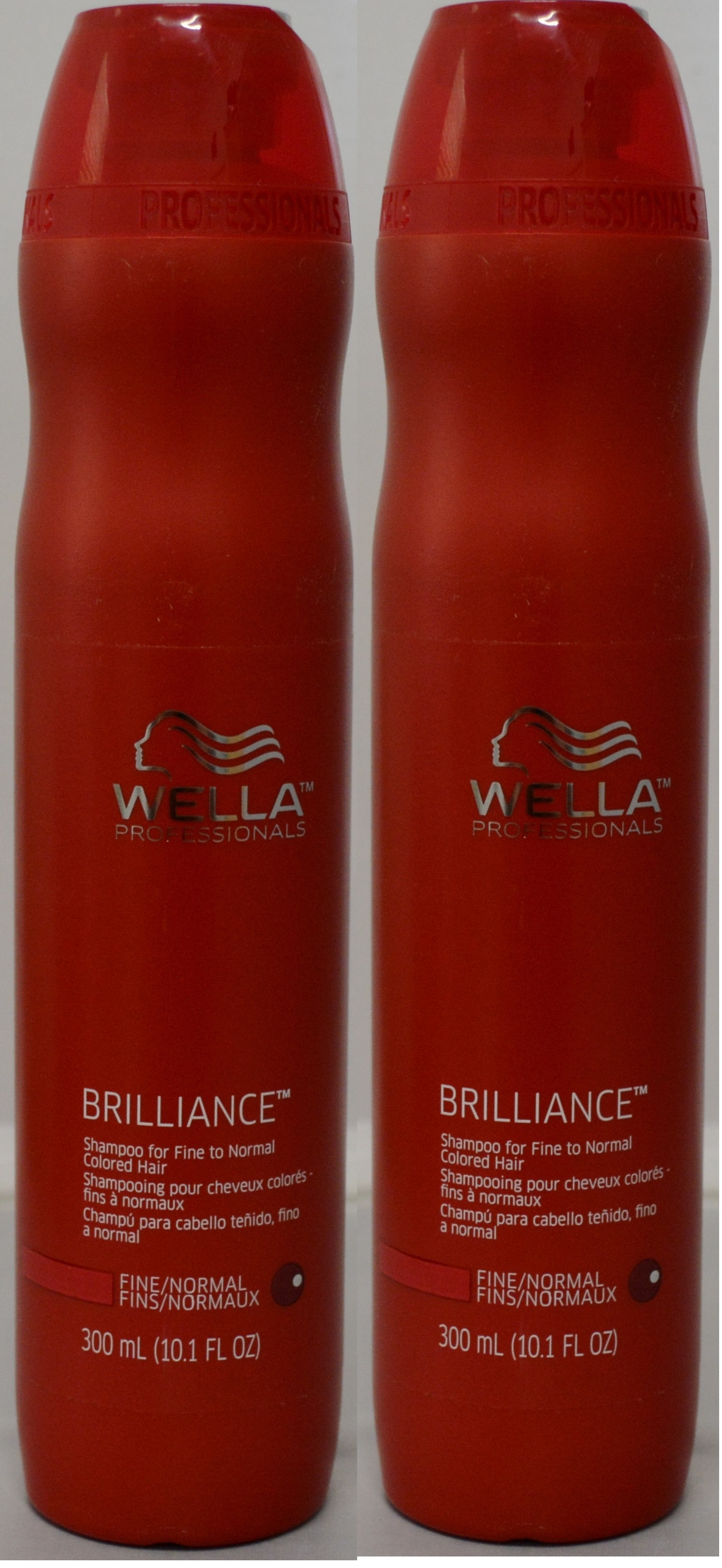 Wella Brilliance Shampoo for Fine to Normal Colored Hair 10.1oz (2 pack)