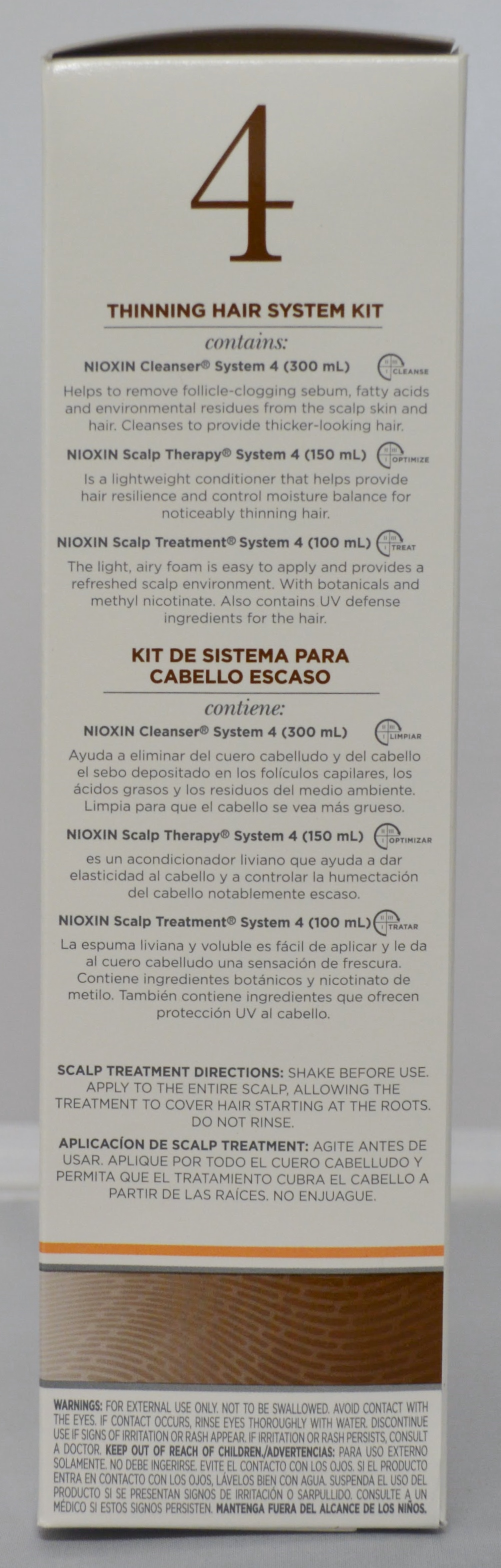 Nioxin System 4 Cleanser Scalp Therapy Scalp Treatment