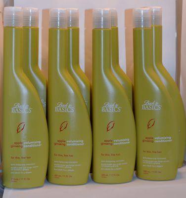 Back To Basics Apple Ginseng Volumizing Conditioner for fine thin hair 11oz (8 pack)