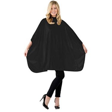 Betty Dain Solid Shampoo Cape - Black - Style 306V - 2 Pack