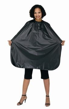 Betty Dain Budget Shampoo Cape - Black - Style 406V - 2 Pack