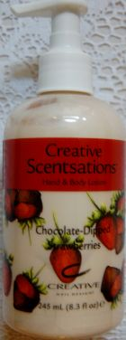 CND Creative Scentsations Lotion Chocolate Dipped Strawberries 8.3 oz
