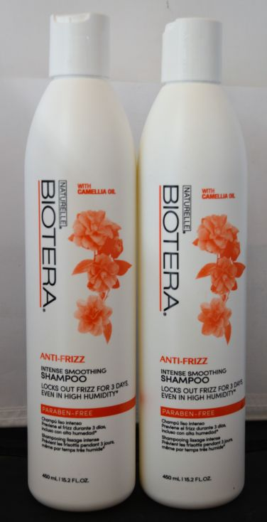 Biotera Anti-Frizz Intense Smoothing Shampoo 15.2oz (2 pack) Locks Out Humidity for 3 Days