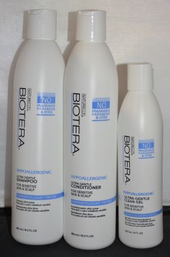 Biotera Hypoallergenic Ultra Gentle Shampo, Conditioner, & Gel Set