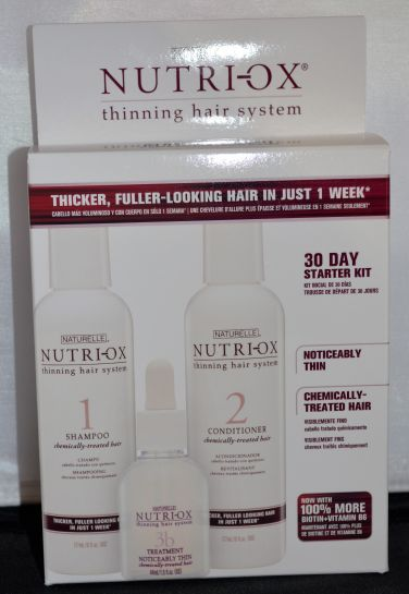Naturelle Nutri-Ox Thinning Hair System for Chemically Treated Noticably Thin Hair (Contains Shampoo, Conditioner, & Treatment)