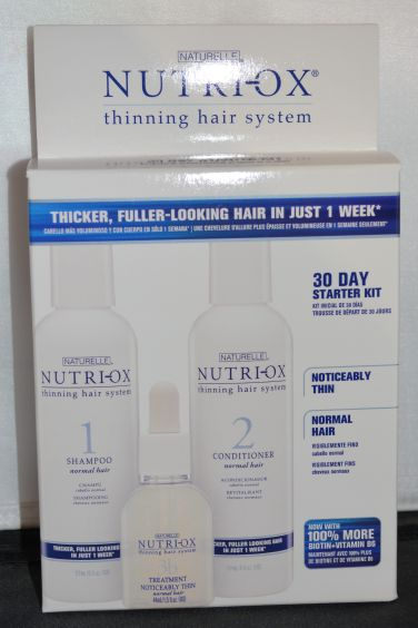 Naturelle Nutri-Ox Thinning Hair System Starter Kit for Noticably Thin Hair (Contains Shampoo, Conditioner, & Treatment)
