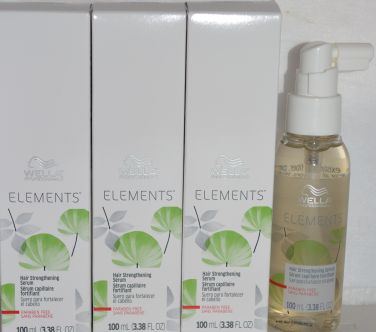 Wella Professional ELEMENTS Hair Strengthening Serum 3.38 oz (100 ml) 3 pk