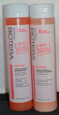 Biotera Restore Strengthening Shampoo & Conditioner Set 10.1oz each - Sulfate Free
