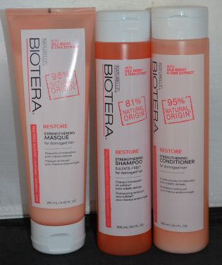 Biotera Restore Strengthening Shampoo, Conditioner, & Masque Set - Sulfate Free