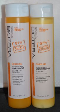 Biotera Nurture Moisturizing Shampoo & Conditioner Set (10.1oz each) Sulfate Free