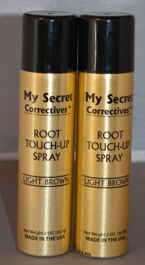 My Secret Hair Root Touch-Up Spray Light Brown 2oz (2 pack)