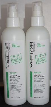 Biotera Renew Leave-In Silky Milk 8oz (2 pack) - Sulfate Free - Dye Free
