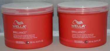 Wella Brilliance Treatment For Fine To Normal Colored Hair 16.9 oz (2 pack)