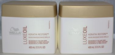 Wella Luxe Oil Keratin Restore Masque 13.5oz (2 pack) Reconstructs the Hair Fiber