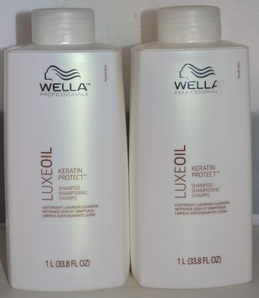 Wella Luxe Oil Keratin Protect Shampoo 33.8oz (2 pack) Lightweight