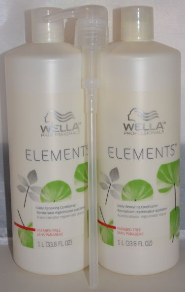 Wella Professionals Elements Daily Renewing Conditioner 33.8oz (2 pack) Includes 1 Free Pump