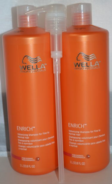 Wella Enrich Volumizing Shampoo For Fine to Normal Hair 33.8oz (2 pack)