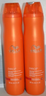 Wella Enrich Volumizing Shampoo for Fine to Normal Hair 10.1oz (2 pack)