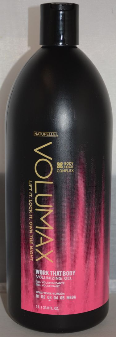 Volumax Work That Body Alcohol Free Styling Gel 33.8oz - Color Safe