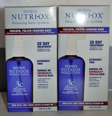 Nutri-Ox 30 Day Treatment for Extremely Thin Hair - Normal or Chemically Treated Hair 4oz (2 pack)