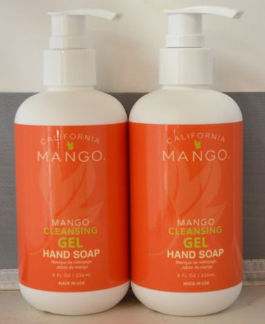 California Mango Cleansing Gel Hand Soap 8oz (2 pack)