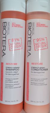 Biotera Restore Strengthening Collection for Damaged Hair (Contains Shampoo & Conditioner)