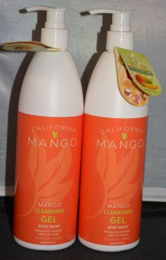 California Mango Cleansing Gel Body Wash 16.9 oz (2 pack)