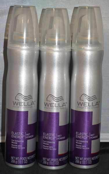 Wella Professionals Elastic Energy Curl Enhancing Mousse 10.1 oz (3 pack)