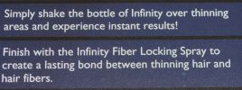 Infinity Hair Loss Concealing Fibers Dark Brown Item #201 14 grams/0.49 oz