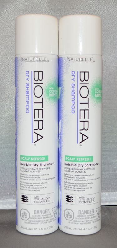 Naturelle Biotera Invisible Dry Shampoo 4.5 oz (2 pack) Total of 8.10 oz