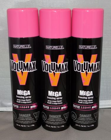 Naturelle Volumax 55% VOC Mega Freezing Spray 7oz (3 pack) Total = 21oz