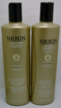 Nioxin Cleanser and Scalp Therapy Duo Pack System 5 Medium/Coarse Hair 10.1 oz (2 pack)