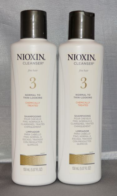 Nioxin Cleanser System 3 Fine/Treated/Normal to Thin-Looking Hair 5.07 oz (2 pack) Total = 10.16oz