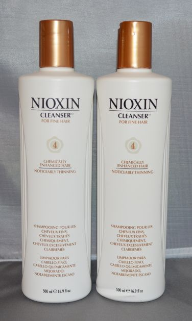 Nioxin Cleanser System 4 Fine/Treated/Noticeably Thinning Hair 16.9 oz (2 pack) Total = 33.8oz