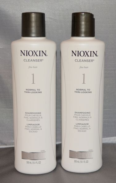 Nioxin Cleanser System 1 Fine/Normal to Thin-Looking Hair 10.1 oz (2 pack) Total = 20.2oz