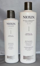Nioxin System 1 Cleanser 10.1 oz and Scalp Therapy Conditioner 16.9 oz Set (2 pack)