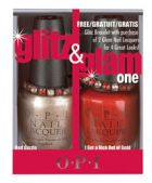 OPI Glitz & Glam Duo Pack #1 Red Dazzle & I Get a Kick Out of Gold Nail Lacquers