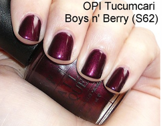 OPI Tucumcari Boys N Berry Nail Polish