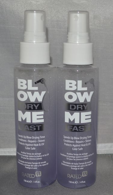 Rated R Blow Dry Me Fast Spray 4 oz (2 pack) Total = 8oz