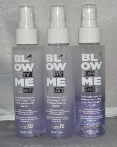 Rated R Blow Dry Me Fast Spray 4 oz (3 pack) Total = 12oz