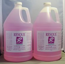 Resque Ultimate Styling & Sculpting Lotion Gallon/128oz (2 pack) Total = 2 Gallons