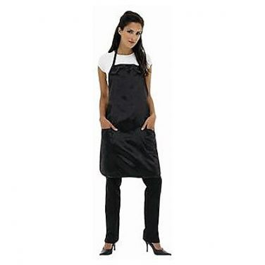 Betty Dain Satin Stylist Apron - Black - Style 943