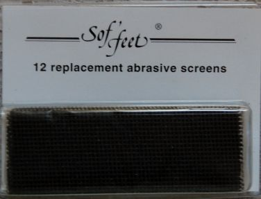 Sof'feet Replacement Abrasive Screens (12 pack)