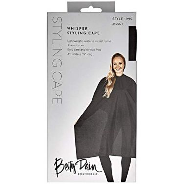 Betty Dain Whisper Styling Cape - Black - Style 199V