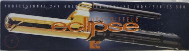 "Euro-Coiffeur Eclipse Professional 24K Gold Plated 1"" Styling Iron Series 300"