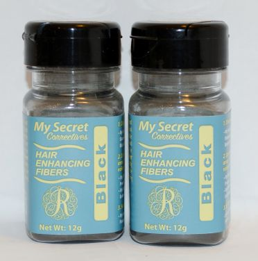 My Secret Hair Enhancing Fibers Black 12g (2 pack)