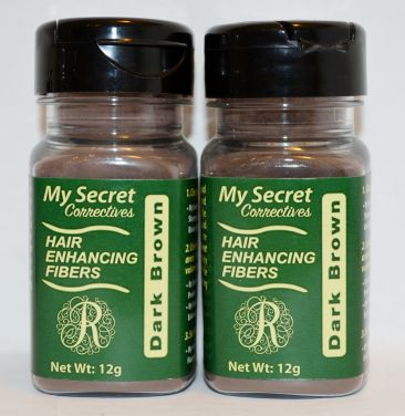 My Secret Hair Enhancing Fibers Dark Brown 12g (2 pack)