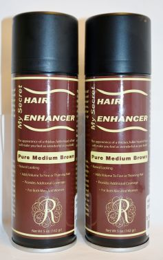 My Secret Hair Enhancer Spray Pure Medium Brown 5oz (2 pack)